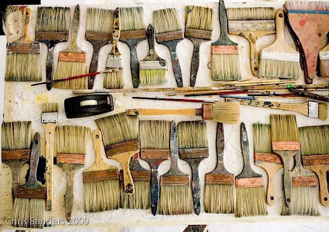 Pat Steir Paintbrushes